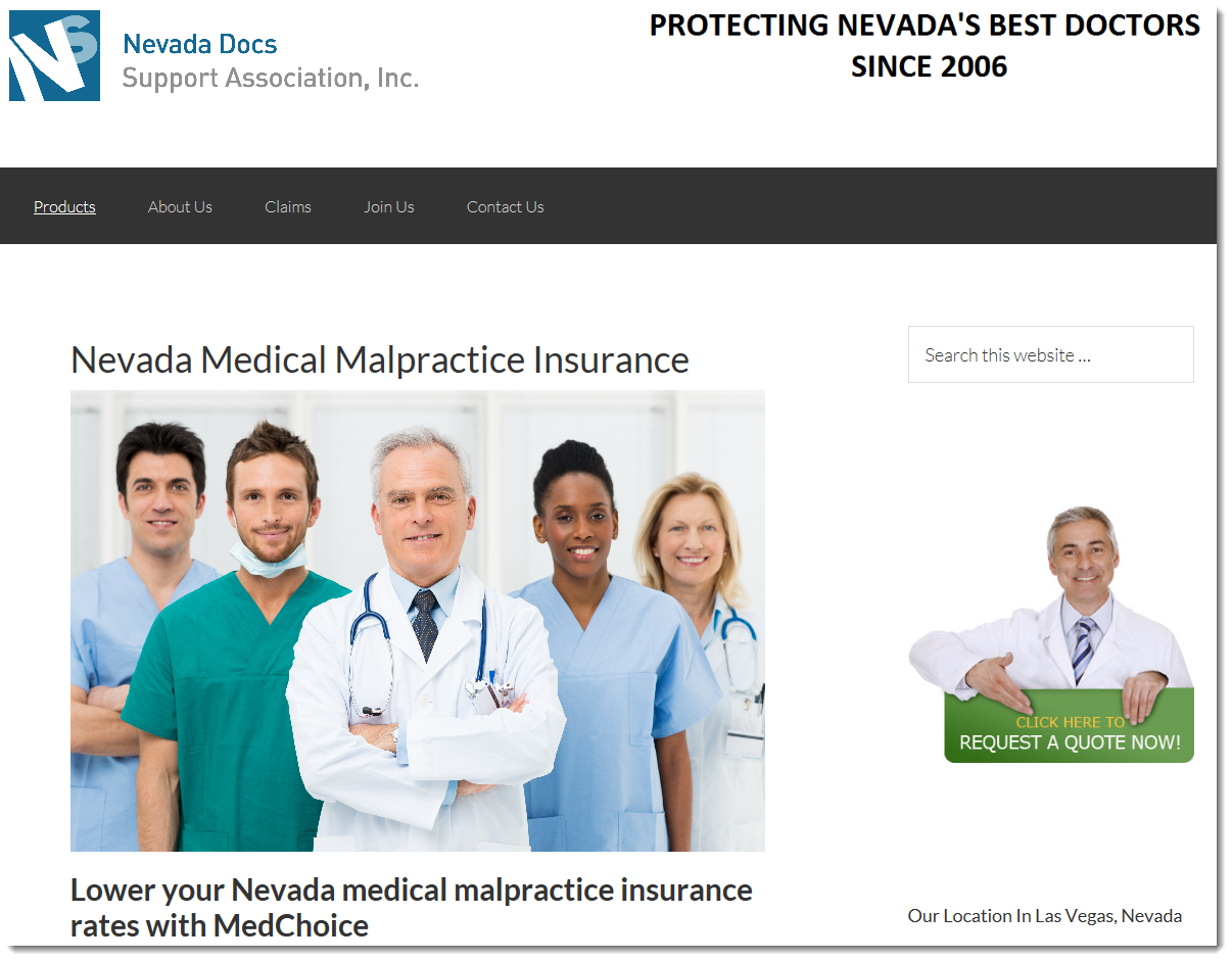 nevada docs support association web page capture