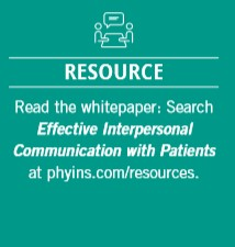 Read the whitepaper: Effective Interpersonal Communication with Patients